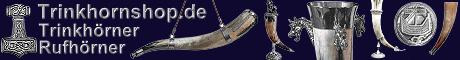 Trinkh�rner Trinkhorn Rufh�rner Wikingerh�rner Drachenh�rner Logo Online Shop - Trinkh�rner online kaufen